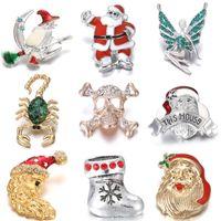 Браслеты очарования 6шт / лот est Snap ювелирные изделия Санта-Клаус волшебник 18 мм Кнопка подходит для ожерелья для рождественских подарков