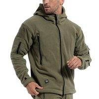 Men's Jackets Military Tactical Jacket 2021 Autumn Winter Hooded Coat Outdoor Hiking Hunting Combat Camping Shell For Men