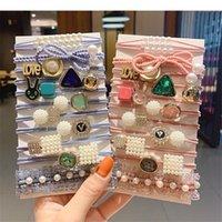 11pcs / set scrunchies de moda All-Match Bow Hair Anillo Japonés y Coreano Headwe Accesorios