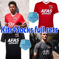 2021 2022 AZ Alkmaar Soccer Jersey Gudmundsson Stengs Koopmeiners Boadu de Wit Karlsson Evjen Jerseys Homens Kits Kits Kits + Conjuntos Completos Camisa de Futebol