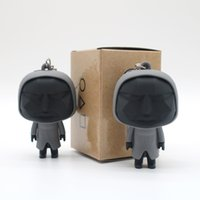 (With No Box) TV Squid Game Key Rings Mask Black Man Keyring PVC Soldier Triangle Series Pendant Charms Accessories 3D Mini Doll Figurine Gifts Model Keychains Holder