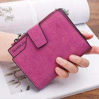 Wallets Wallet Women 2021 Korean Zipper Short Simple Lady Card Case Frosted Small Coin Purse