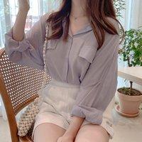 Weißes Hemd Frühling Lässige Weibliche Tops Frauen Langarm Leinen Baumwolle Mädchen Bluse Herbst Plus Größe Lila Frauen Blusen Femme 201202