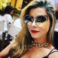 Lunettes de soleil de luxe Fradente Mode Métal Personnalité Hommes Femmes Round Sun Lunettes Mode Shades UV400 Vintage Verres