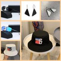 Luxurys 2021 디자이너 양동이 모자 남자와 여자의 귀걸이 여름 야외 여행 선글라스 태양 모자 hight 품질 패션 배열 모자 2 색 좋은 좋은