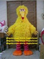 likable yellow big bird 마스코트 의상 마스코트 Sesame Street 플러시 긴 모피 큰 통통한 바디 성인 크기 No.534 무료 배송
