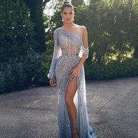 Eightree dubai um mais pesado vestidos de noite de luxo cristal cristal vestidos de festa formal árabe vestido robe de soiree