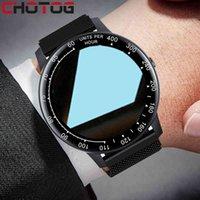 Designer Luxury Marca Relógios Rodada Tela Smart Pressão Sanguínea / Ouvir Monitor de Taxa Es Homens Mulheres Fitness Tracker Smart for Xiaomi iPhone