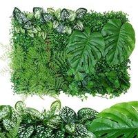 Clôture, treillis portes 40 * 60cm plante artificielle pelouse bricolage arrière-plan mural panneau suspendu jardin extérieur