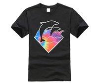 Neue Marke Herren T-Shirt Sommer Baumwolle Kurzarm T Pink Delphin-Hemd