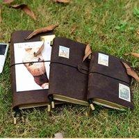 Натуральная кожа ноутбуков журнал журнал журнал повестки дня ручной работы планировщик ноутбуков винтажный дневник каденрно Sketchbook школьные принадлежности 210611