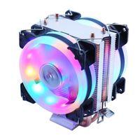 برودة المبرد لون الضوء الصامت PWM 130W TDP ل Intel 1150 115 1156 1366 2011 X79 X99 AM2 AM3 AM4 مراوح Ventilador