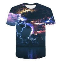 Men's T-Shirts Creative 3D Printing T-shirt Round Neck Short Sleeve Full-Color Summer Hip Hop Street Style Casual For Men