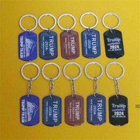 2024 Trump print key Ring campaign flag pendant trump stainl...