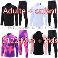 21 22 Herren Fußball Trainingsanzug Real Madrid Fussball Training Anzug 2021 2022 Herren Kinder Mbappe Surveletement Maillots de Foot Chandal Tuta Joggen
