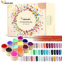 50638K Venalisa 60 colori pittura gels set immergiti da assorbimento del chiodo avvolto kit di gel di colore