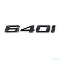 6 Série F12 F13 E63 Couvercle arrière Couvercle mat matte Noir 640i Lettre En Gros Badge personnalisé Autocollant Emblème pour BMW