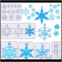 Bakeware Kitchen, Dining Bar Home Gardenpieces Snowflake Resin Molds Diy Sile Casting Soap Mold Epoxy Mould For Crafts Necklace Earrings Baki