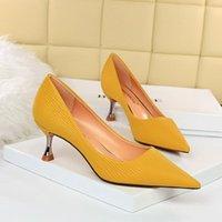 Обувь платье BigTree каблуки женские мода оккупация высоких сексуальных насосов металлический каблук заостренный 2021