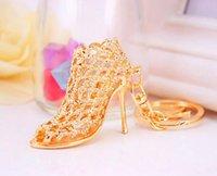 Rings Promotion Wedding Gift Crystal bright high heel Shoes Car Key holder lady Creative Bag ornaments keychain pendant DFF4341