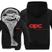 Mens Zipper Homem Casaco Opel Desempenho OPC Centro Centre Hoodies Engrossar Motorsport OPC Moletom Pullover LCMHV