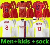 Olympique Lyonnais Lyon Soccer Jersey 21 22 Maillot Foot 2021 2022 Maillots de Futebol Camisa Traore Memphis Ol Adultos e Crianças