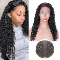 Lace Wigs Brazilian Deep Wave 13x6x1 Front Pre Plucked Remy Hair T-part Human 26 Inches Natural Color