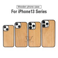 U&I 2021 Newest Wood Blank Phone Cases Wooden Soft TPU Back Cell Case For iPhone 13 Promax
