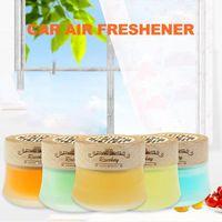Car Air Freshener 5 Fragrances Purifier Solid Deodorant Cream Ornaments Bedroom Bathroom Life Decoration Frosted Bottle Perfume