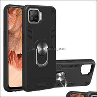 Phone Aessories Cell Phones & Aessorieshybrid F17 Reno 4 Red Armor Hard Er Case For Oppo Realme 7 Pro A73 A33 A32 Cases Kickstand Drop Deliv