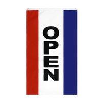 Vertical Open Sign Drapeau Grand 3 x1,5 FT Pied d'entreprise Publicité Publicité Drapeaux Bannière 90 * 150cm Polyester avec des œillets en laiton Maison Jardin Murale Décor