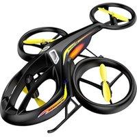 Drones 2.4G RC Вертолет 6CH Торговый рулон Пульт дистанционного управления Устройство воздушного Дрона 4 шт. Двигатели на открытом воздухе подарки для детей