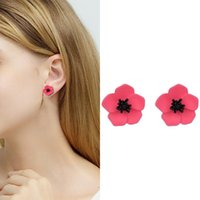 Creative Candy Color Flower Stud Earrings Fashion Ladies Crystal Female Bijoux For Women Wedding #2