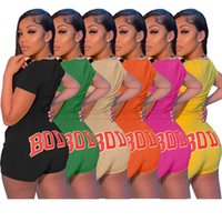 dresses womens sets 2021 leisure sports body print two piece suit ladies tracksuits for summer Women Designers Clothes