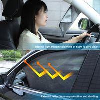 Carro Sunshade Lateral Janela Magnética Frente Traseira Sun Curtain Perspective Perspective Malha Verão UV Proteção Acessórios