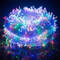 문자열 야외 크리스마스 조명 10m 20m 30m 50m 100m LED 문자열 요정 휴가 장식 웨딩 파티 트리 화환