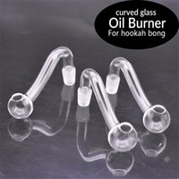 Ultra-cheap Glass Oil Burner pipe 10mm 14mm 18mm Female Male Thick Pyrex Glass smoking Pipes For Water Pipe Bong Glass Adapter Oil Nail Pipe