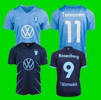 Malmö FF Home Alejed Fútbol Jersey 2021 2022 Camisetas Ola Toivonen Anders Christiansen Malmo Isaac Kiese Thelin Markus Rosenberg Jonas Knudsen Shirts