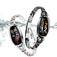 الأكثر مبيعا h8 الذكية ووتش المرأة 2020 ماء القلب رصد معدل بلوتوث لالروبوت ios اللياقة البدنية سوار smartwatch بالجملة