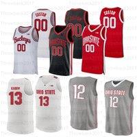 Özel Ohio State College Basketbol Formaları 1 Luther Muhammed 3 DJ Karton 4 DuaneWashingtonjr. 10 Justin Ahrens