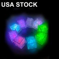 7 Renkler Mini Aydınlık Parlatıcı Küpleri LED Yapay Buz Küpü Flaş Led Işık Düğün Noel Partisi Dekorasyon Hediye USALIGHT