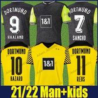 Dortmund Haaland Soccer Jerseys Retro 90er Jahre inspirierte Special Hemden Hazard Reus Sancho Football Jersey 21/22 Hummels Brandt Herren Kids Kit 110th Jubiläumsausgabe