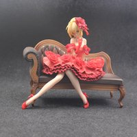 24 cm Anime Kader Kalmak Gece Ekstra Kırmızı Elbise Seksi Kızlar Sabre Nero Claudius Sezar Augustus Germanicus PVC Aksiyon Figürleri Oyuncaklar