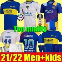 21 22 Boca Juniors Camisas de futebol Carlitos Maradona Tevez de Rossi 2021 2022 Terceiro 3º 4º jersey adulto homens kits kits conjuntos de camisa de futebol uniformes Tailândia