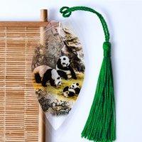 Souvenir Panda Leaf vena Segnalibro Segnalibro Cinese stile classico regalo Sichuan Jiuzhaigou Chengdu Piccolo per andare all'estero