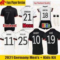 Euro 2021 Maillot de foot Germany MULLER WERNER SANE KROOS GORETZKA HAVERTZ GNABRY Fans Player Version Allemagne Maillot hommes Ensembles enfants Uniformes