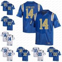 NCAA UCLA Bruins Koleji Futbolu # 14 Theo Howard 81 Caleb Wilson 32 JALEN Starks 87 Wilson Açık Mavi Beyaz Formalar S-3XL