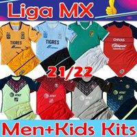 Liga MX Club América 2021 2022 Soccer Jersey Club León Chivas Camisetas de Fútbol Giovani Cáceres B.Valdez Leon Men Kits Kit Kit de Kits de Hombre Alquiler Percero Tercero Conjuntos de fútbol Top