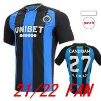 2021 2022 Club Brugge KV Soccer Jersey V.Badji 27 Mata 77 de distancia KossOouu 5 Vensaken 20 de Ketelaere 90 Jerseys 22 22 Camisas de fútbol Inicio Azul y Negro 999