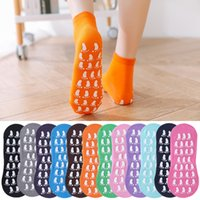 Creative Silicone Printing Cotton Non-slip Sports Sock With Rubber Adult Yoga Trampoline Foot Massage Floor Socks